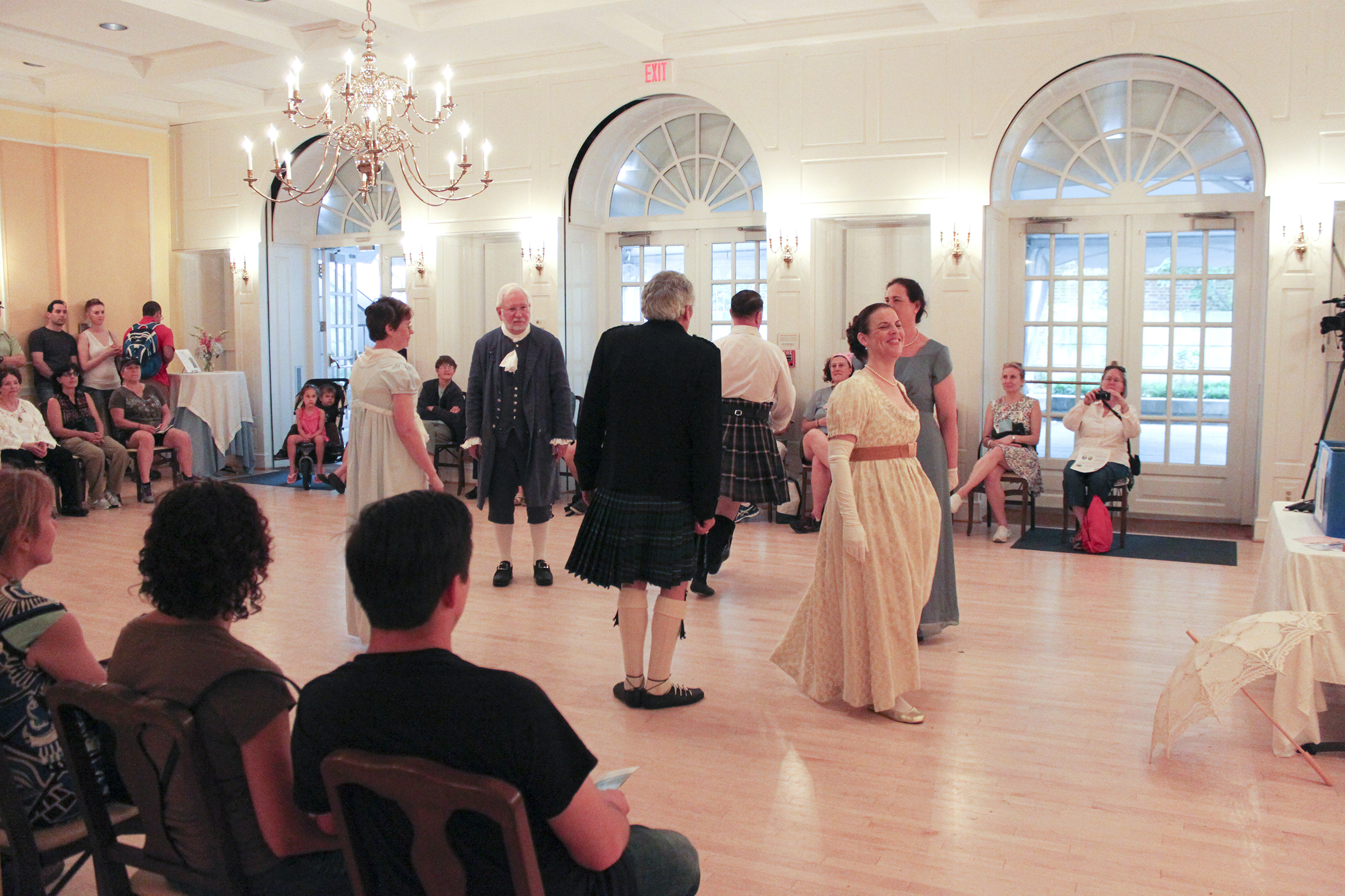 English Country Dancers at Dumbarton House